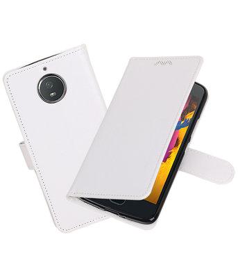 Wit Portemonnee booktype Hoesje voor Motorola Moto G5s