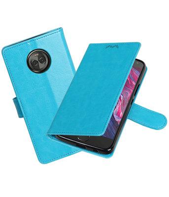 Turquoise Portemonnee booktype Hoesje voor Motorola Moto X4