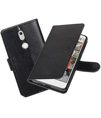 Zwart Portemonnee booktype Hoesje voor Nokia 7