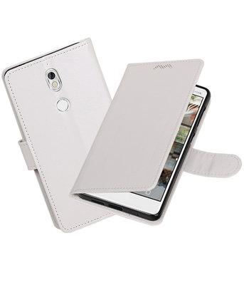 Wit Portemonnee booktype Hoesje voor Nokia 7