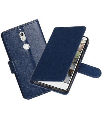 Donker Blauw Portemonnee booktype Hoesje voor Nokia 7