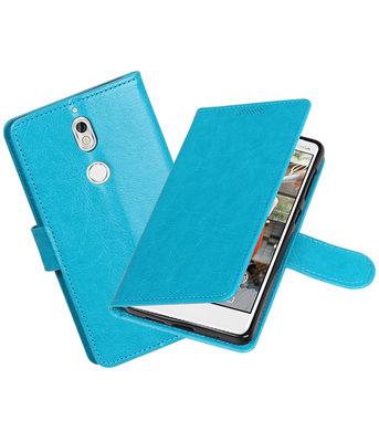 Turquoise Portemonnee booktype Hoesje voor Nokia 7