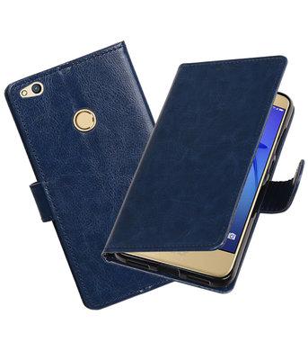 Donker Blauw Portemonnee booktype hoesje Huawei P8 Lite 2017
