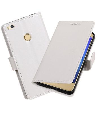 Wit Portemonnee booktype Hoesje voor Huawei P8 Lite 2017