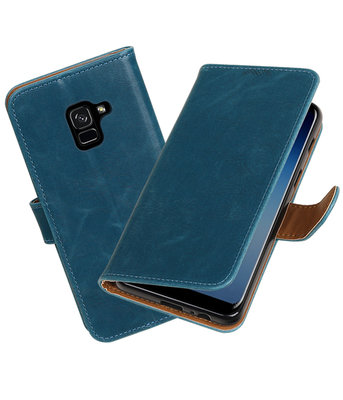 Hoesje voor Samsung Galaxy A8 2018 Pull-Up booktype blauw