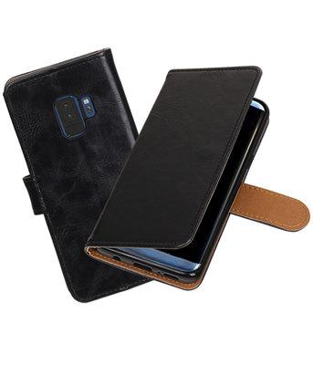 Hoesje voor Samsung Galaxy S9 Pull-Up booktype zwart