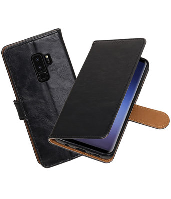 Hoesje voor Samsung Galaxy S9 Plus Pull-Up booktype zwart