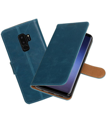 Hoesje voor Samsung Galaxy S9 Plus Pull-Up booktype blauw
