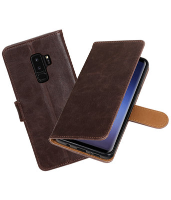 Hoesje voor Samsung Galaxy S9 Plus Pull-Up booktype mocca