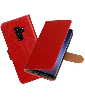 Hoesje voor Samsung Galaxy S9 Plus Pull-Up booktype rood