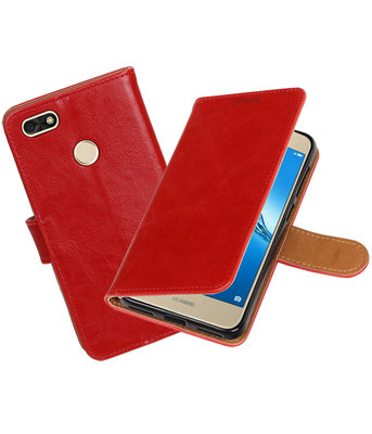 Hoesje voor Huawei P9 Lite mini Pull-Up booktype rood
