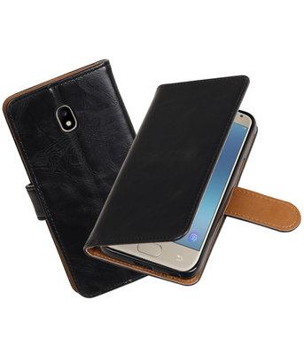 Hoesje voor Samsung Galaxy J3 2017 J330F Pull-Up booktype zwart