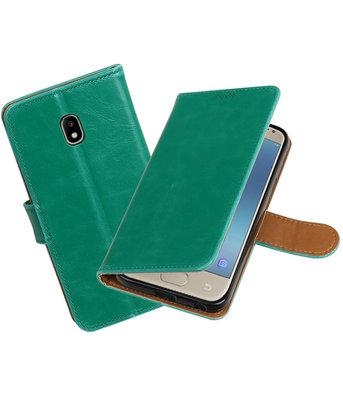 Hoesje voor Samsung Galaxy J3 2017 J330F Pull-Up booktype groen