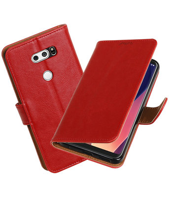 Hoesje voor LG V30 Pull-Up booktype rood