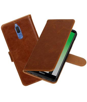 Hoesje voor Huawei Mate 10 Lite Pull-Up booktype Bruin