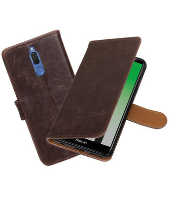 Hoesje voor Huawei Mate 10 Lite Pull-Up booktype Mocca