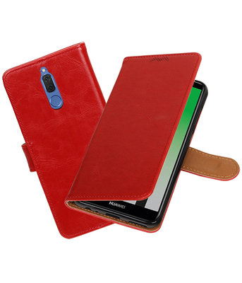 Huawei Mate 10 Lite Pull-Up booktype hoesje Rood
