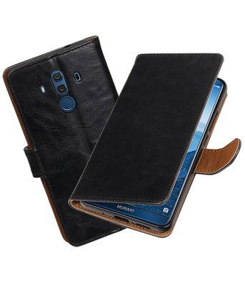 Hoesje voor Huawei Mate 10 Pro Pull-Up booktype zwart