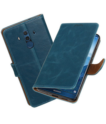 Hoesje voor Huawei Mate 10 Pro Pull-Up booktype blauw