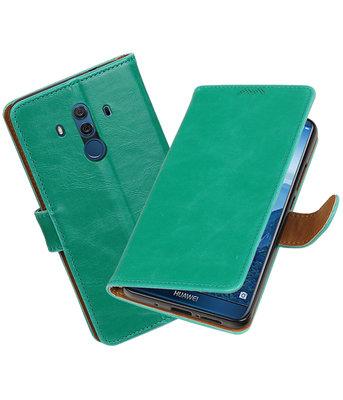 Hoesje voor Huawei Mate 10 Pro Pull-Up booktype groen