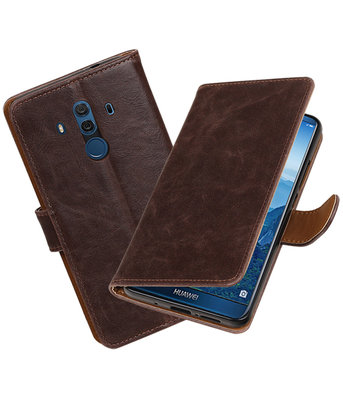 Hoesje voor Huawei Mate 10 Pro Pull-Up booktype mocca