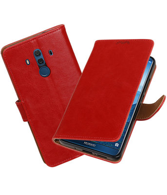 Hoesje voor Huawei Mate 10 Pro Pull-Up booktype rood