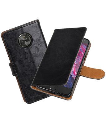 Hoesje voor Motorola Moto X4 Pull-Up booktype zwart