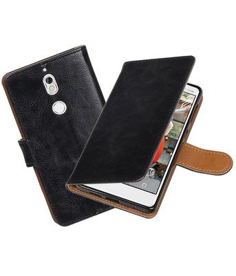 Hoesje voor Nokia 7 Pull-Up booktype zwart