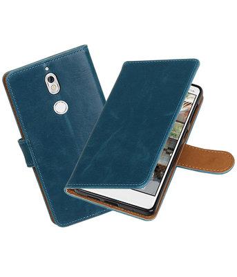 Hoesje voor Nokia 7 Pull-Up booktype blauw