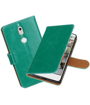 Hoesje voor Nokia 7 Pull-Up booktype groen