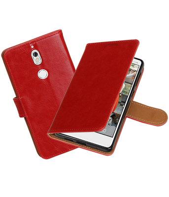 Hoesje voor Nokia 7 Pull-Up booktype rood