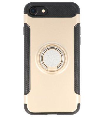 Hoesje voor Apple iPhone 7 / 8 Pantser TPU met Ringhouder Goud