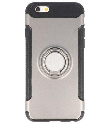 Hoesje voor Apple iPhone 6 Pantser TPU met Ringhouder Grijs