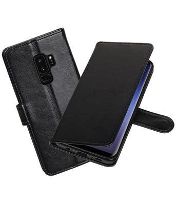 Zwart Portemonnee booktype Hoesje voor Samsung Galaxy S9 Plus