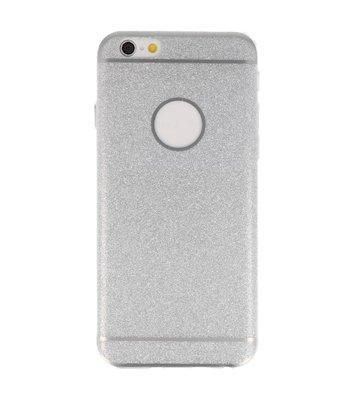 Hoesje voor Apple iPhone 6 / 6s Bling TPU back case Zilver