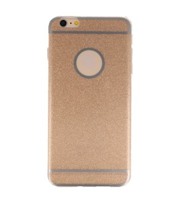 Hoesje voor Apple iPhone 6 / 6s Plus Bling TPU back case Goud