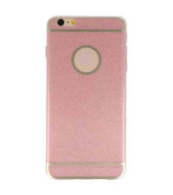Hoesje voor Apple iPhone 6 / 6s Plus Bling TPU back case Roze