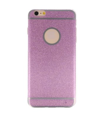 Hoesje voor Apple iPhone 6 / 6s Plus Bling TPU back case Hotpink