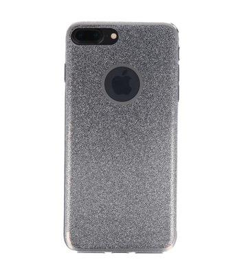 Hoesje voor Apple iPhone 7 / 8 Plus Bling TPU back case Zilver