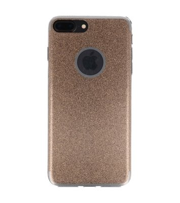 Hoesje voor Apple iPhone 7 / 8 Plus Bling TPU back case Goud