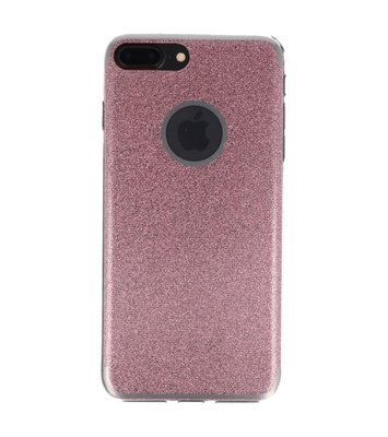 Hoesje voor Apple iPhone 7 / 8 Plus Bling TPU back case Roze