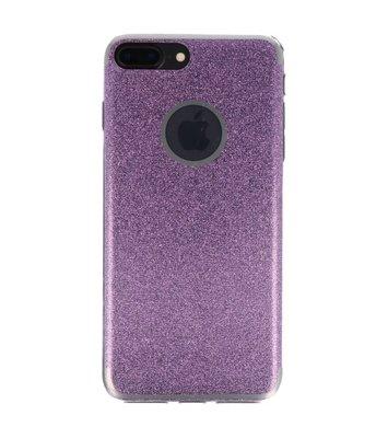 Hoesje voor Apple iPhone 7 / 8 Plus Bling TPU back case Hotpink