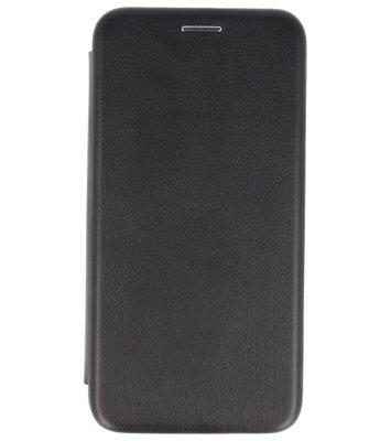 Zwart Premium Folio leder look booktype Hoesje voor Apple iPhone X