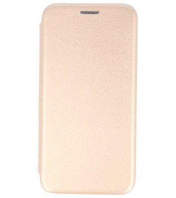 Goud Premium Folio leder look booktype Hoesje voor Apple iPhone X
