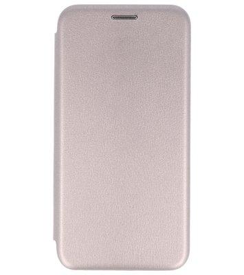 Grijs Premium Folio leder look booktype Hoesje voor Apple iPhone X