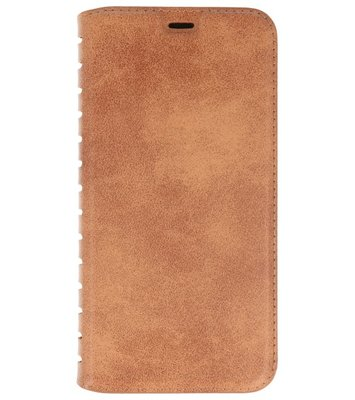 Bruin Luxe leder look booktype hoesje Apple iPhone X