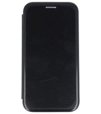 Zwart Shell Folio case booktype Hoesje voor Apple iPhone X