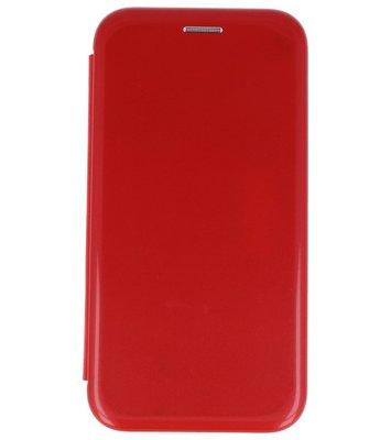 Rood Shell Folio case booktype Hoesje voor Apple iPhone X