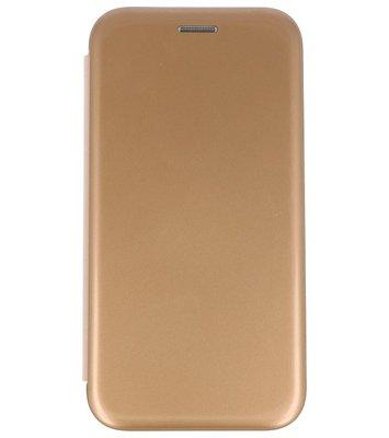 Goud Shell Folio case booktype Hoesje voor Apple iPhone X