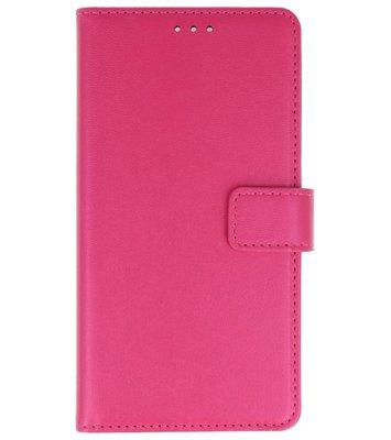 Roze booktype wallet case Hoesje voor Nokia 2